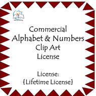 Alphabet & Numbers Clip Art - Commercial {LIFETIME LICENSE} - 303 PNG Images