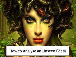 High Ability GCSE/ A-Level Unseen Poem- Medusa