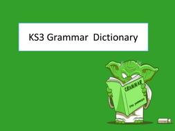 KS3 Grammar Dictionary