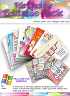 Birthday Editable Pack