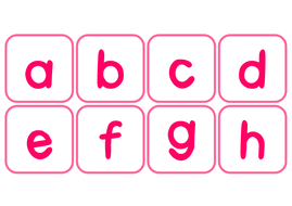 alphabet flashcards posters worksheets activities letters abc girls