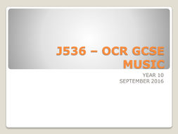 Powerpoint showing Areas of Study for the new OCR GCSE exam J536