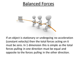 physics a level year 1 lesson balanced forces powerpoint and