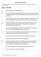 EDEXCEL GCSE PE PEP worksheet