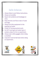 Health and safety in the lab poster