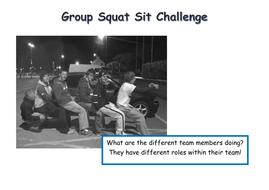 Group squat sit challenge