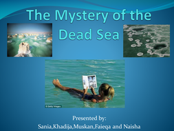 The Mystery of the Dead Sea