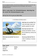 Read Write Inc.: A Dangerous Dinosaur worksheet