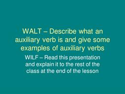 Powerpoint Presentation on Auxilliary Verbs