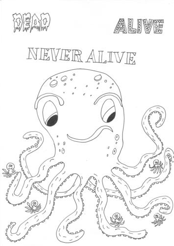 Dead, Alive, Never Lived: Ocean Theme: Octopus Worksheet
