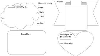 Character study book task