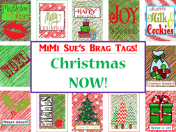 MiMi Sue's Brag Tags (Christmas NOW!) 12 Designs Holiday SWAG