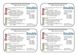 Drop, Swap and Double Spellings