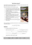 Neutralisation Réactions Worksheet