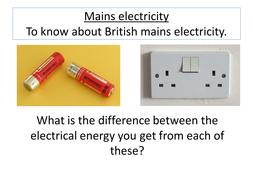Mains electricity by lrcathcart - Teaching Resources - Tes