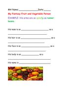 Fantasy character description wordframe - fruit based.