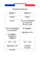 French Introduction Conversation Cards