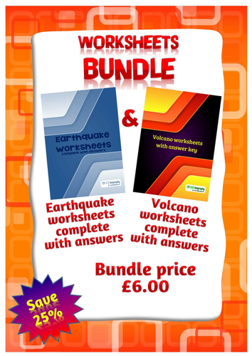bundle volcano and earthquake worksheets by idj teaching resources tes. Black Bedroom Furniture Sets. Home Design Ideas