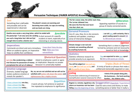 Language Devices - Poetic and Persuasive & TAP for AQA