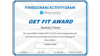 Fitness Unit_Get Fit Certificate_adaptable to your school