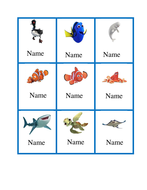 Finding Dory themed peg labels