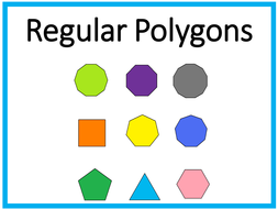 Polygons Questions Poster Starter Display