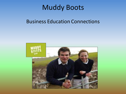 KS3 or GCSE Business Studies 'Muddy Boots Foods Limited' Home Learning Project