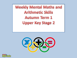 Key Stage 2/KS2 Weekly Mental Maths and Arithmetic Paper Skills