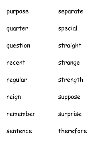 National Curriculum Y3/4 Spelling Words Game by vcurrie19