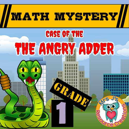 Math Mystery: Addition Math Mystery (GRADE 1) By JJResources