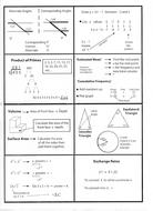 Maths revision pocket/flash  cards