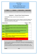 BTEC Sport Level 2: Assignment brief 1