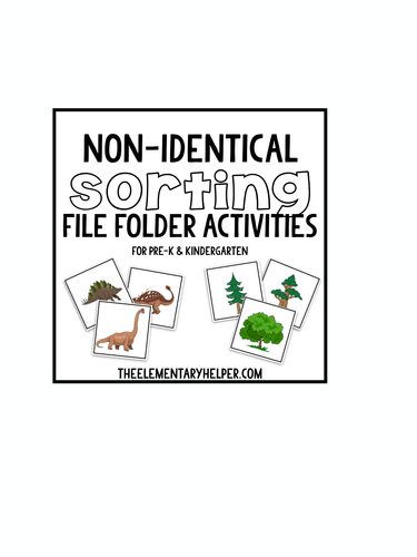 Non-Identical Sorting File Folder Activities for Preschool
