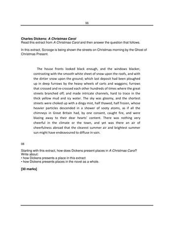 a christmas carol essay new aqa gcse a christmas carol model essay response by