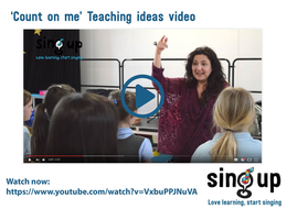 'Count on me' Teaching Ideas