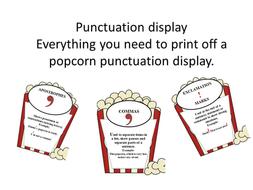SPAG popcorn punctuation display