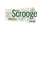 Christmas Carol wordle for start of chapter one