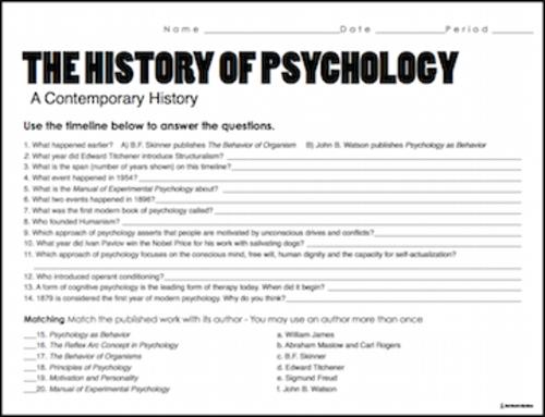 Worksheet Psychology Worksheets history of psychology timeline 20 question worksheet by 2 png