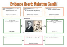 gandhi evidence board worksheet by lrigb4 teaching resources. Black Bedroom Furniture Sets. Home Design Ideas