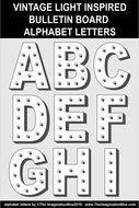 A-Z Alphabet Letters and First Week Welcome Back Posters