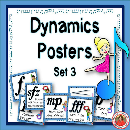 Free Classroom Decoration Resources : Music classroom decor set dynamics posters by