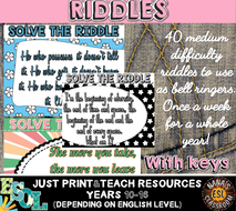 BELL RINGERS: RIDDLE OF THE DAY (40 challenging riddles for teens)