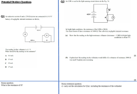 Potential Divider for A-level Physics