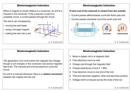Electromagnetic Induction A-Level Physics Flashcards V1 0 (29 Cards)