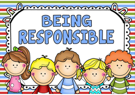 being responsible posters teaching resources behaviour rules eyfs