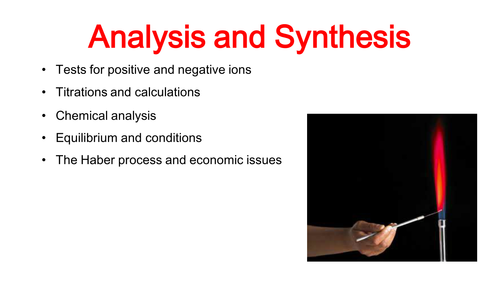 Analysis and Synthesis GCSE Chemistry