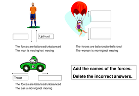 solo lesson for force diagrams and balanced unbalanced forces by