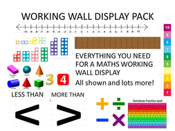 MATHS WORKING WALL DISPLAY PACK ks2