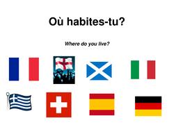 Où habites-tu? Where do you live?