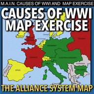 World War I Map Activity Main Causes By Bigideas123 Teaching